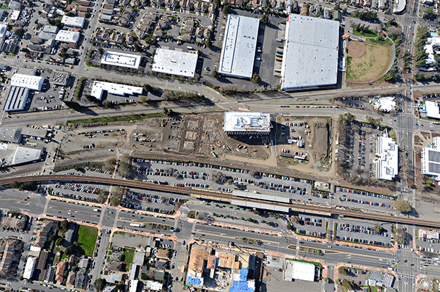 SLTC Phase 1 overhead aerial view of site